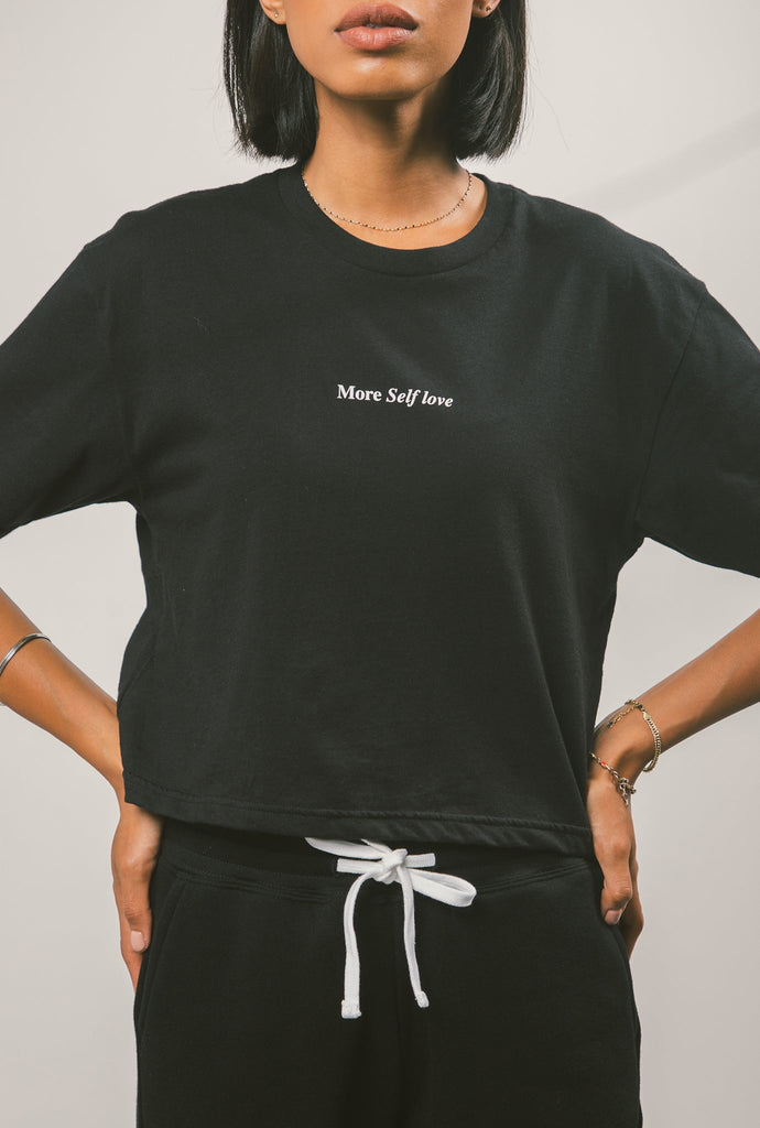 More Self Love Cropped T-Shirt - Black