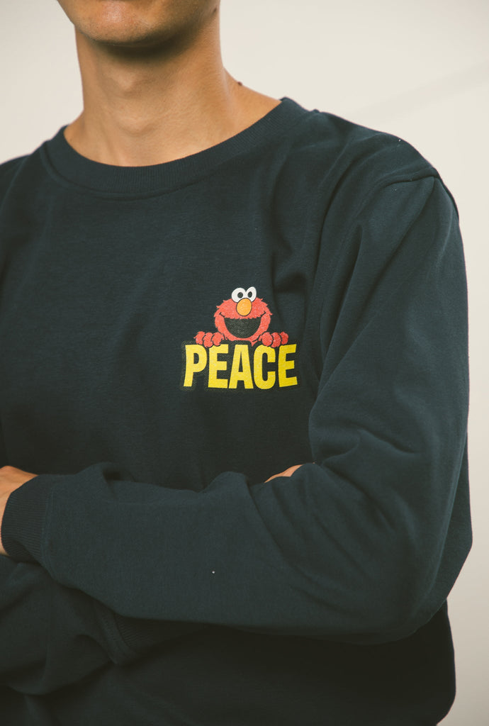 Elmo Peace Crewneck - Navy