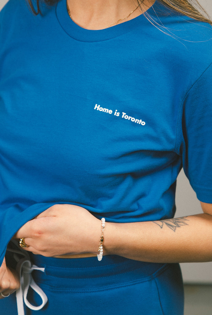 Home is Toronto Minimal Cropped T-Shirt - Royal