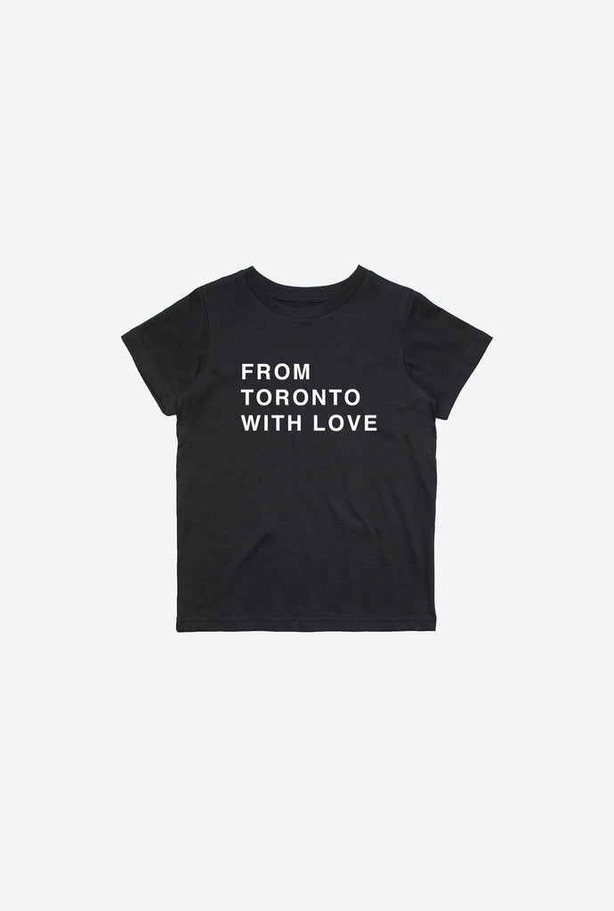 From Toronto with Love Kids T-Shirt - Black