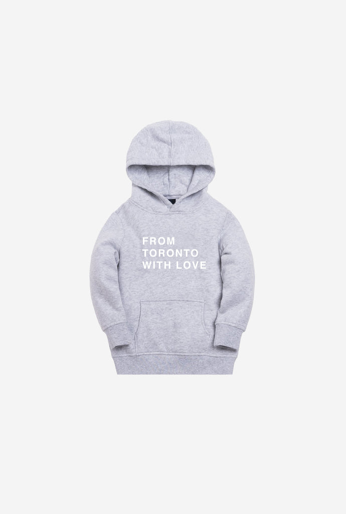 From Toronto With Love Kids Hoodie - Grey