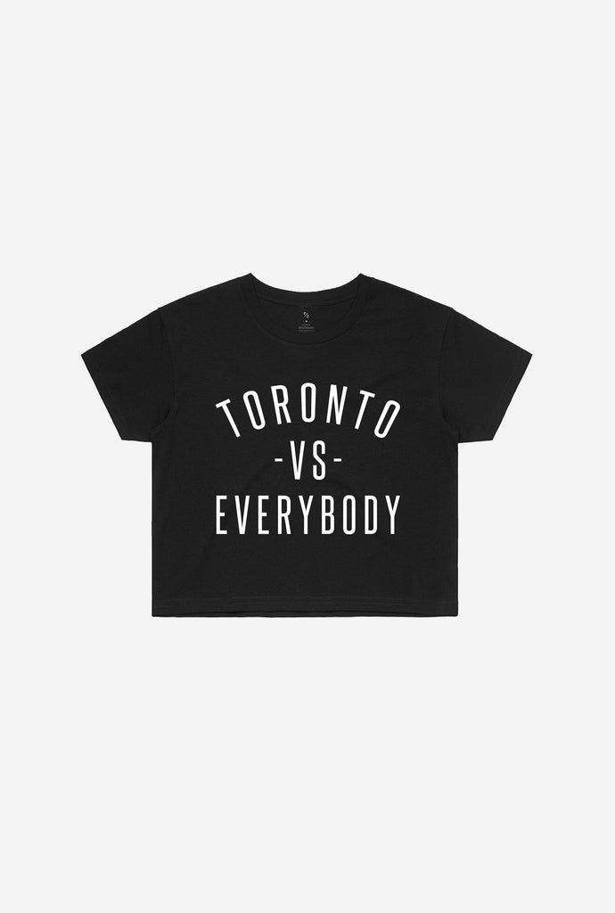 Toronto -vs- Everybody Cropped T-Shirt - Black