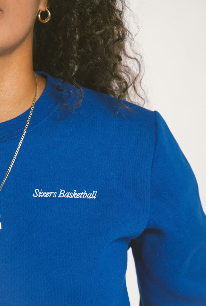 Philadelphia 76ers Cropped Sweater - Royal