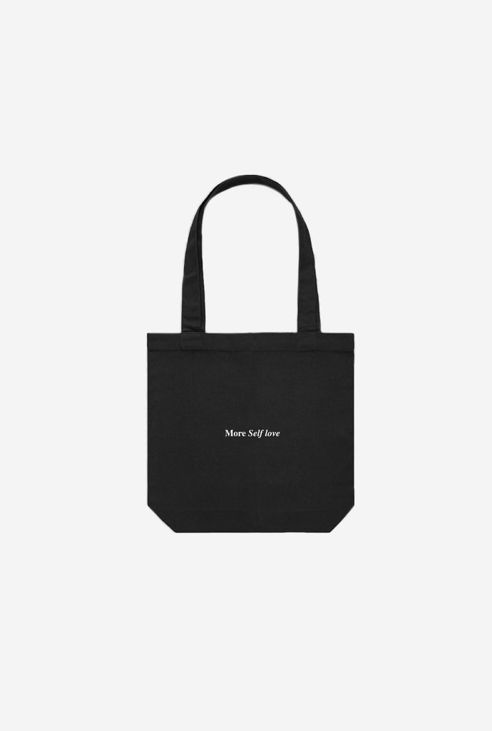 More Self Love Tote Bag - Black