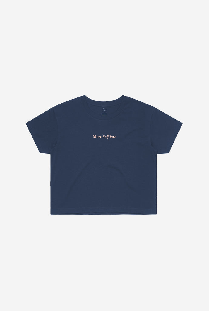 More Self Love Cropped T-Shirt - Navy