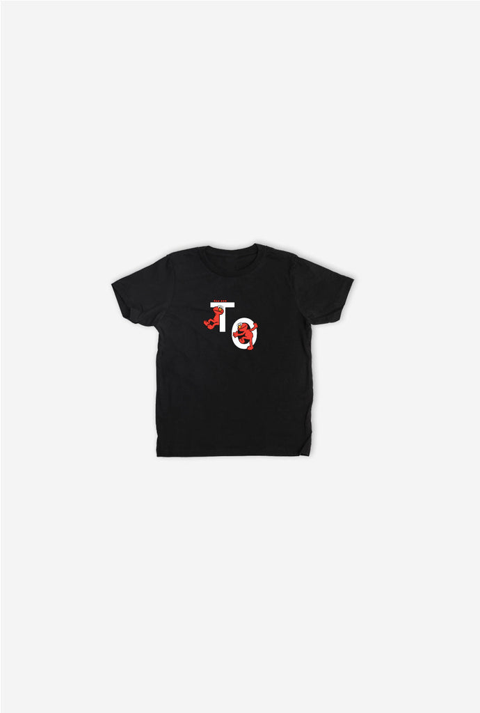 P/C x Sesame Street TO Kids T-Shirt - Black