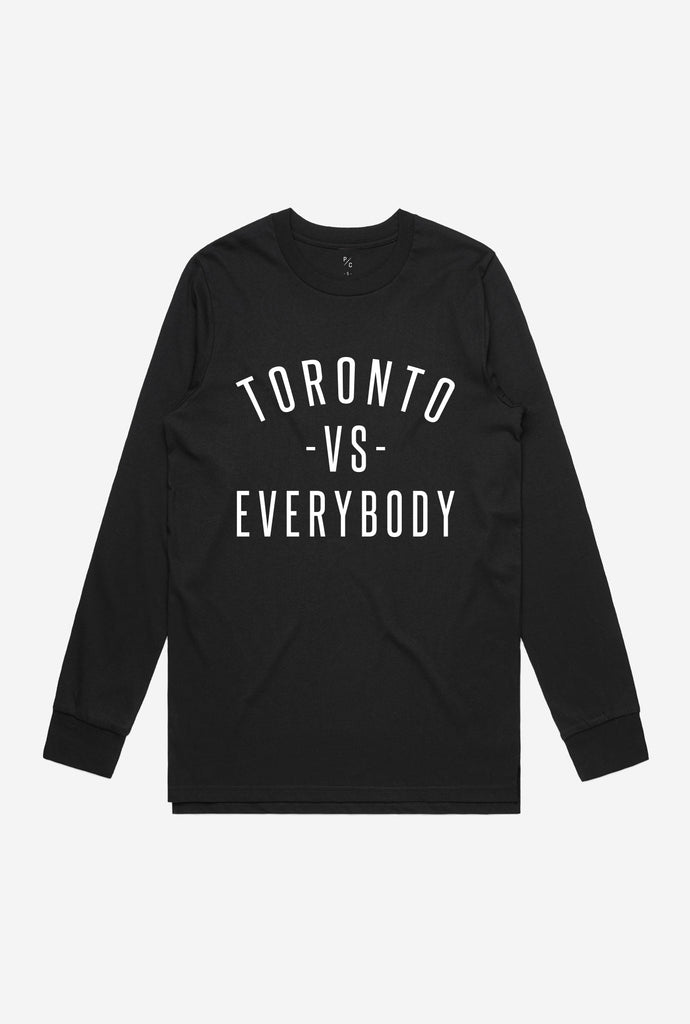 Toronto -vs- Everybody® Long Sleeve - Black