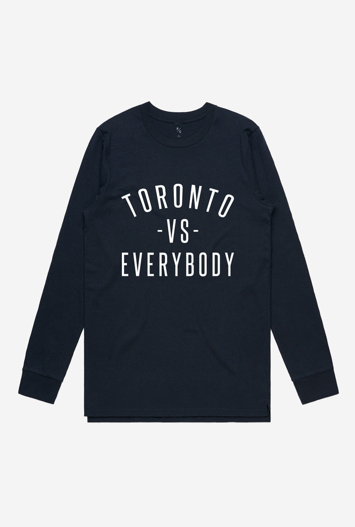 Toronto -vs- Everybody® Long Sleeve - Navy