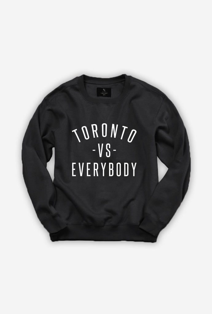toronto vs everybody crewneck sweater black