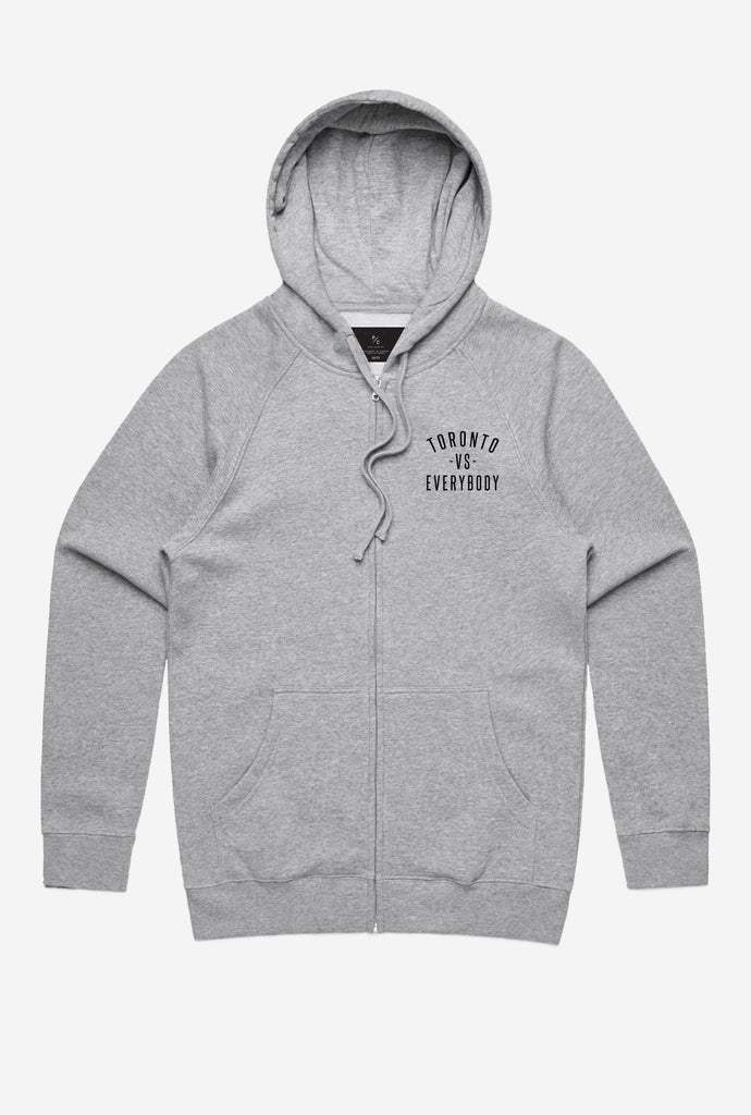 Toronto -vs- Everybody® Zip Up Hoodie - Grey
