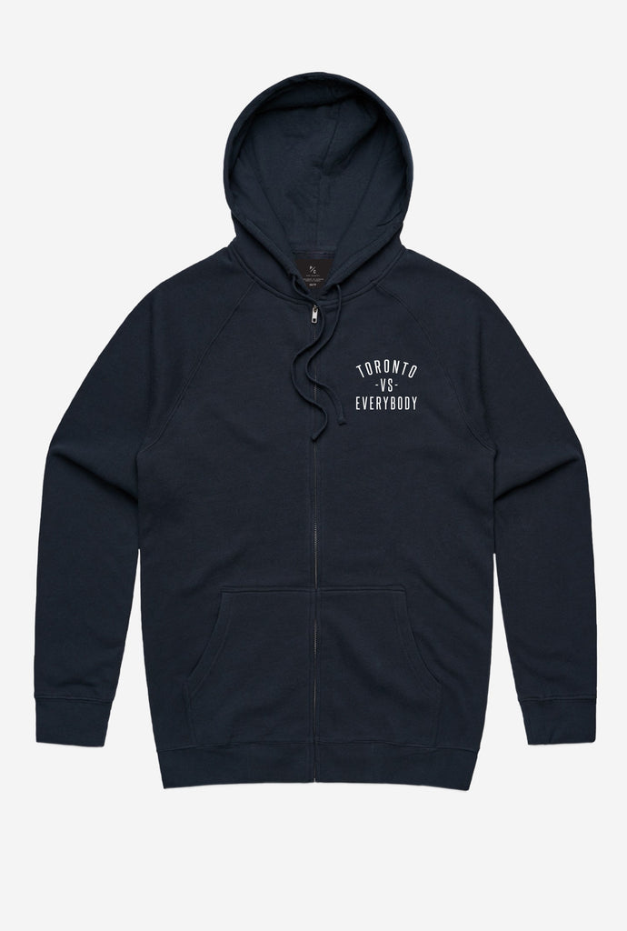 Toronto -vs- Everybody® Zip Up Hoodie - Navy