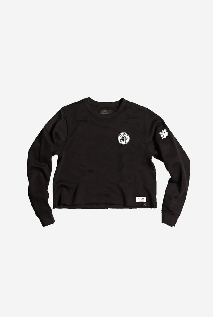 TFC Emblem Cropped Crewneck - Black
