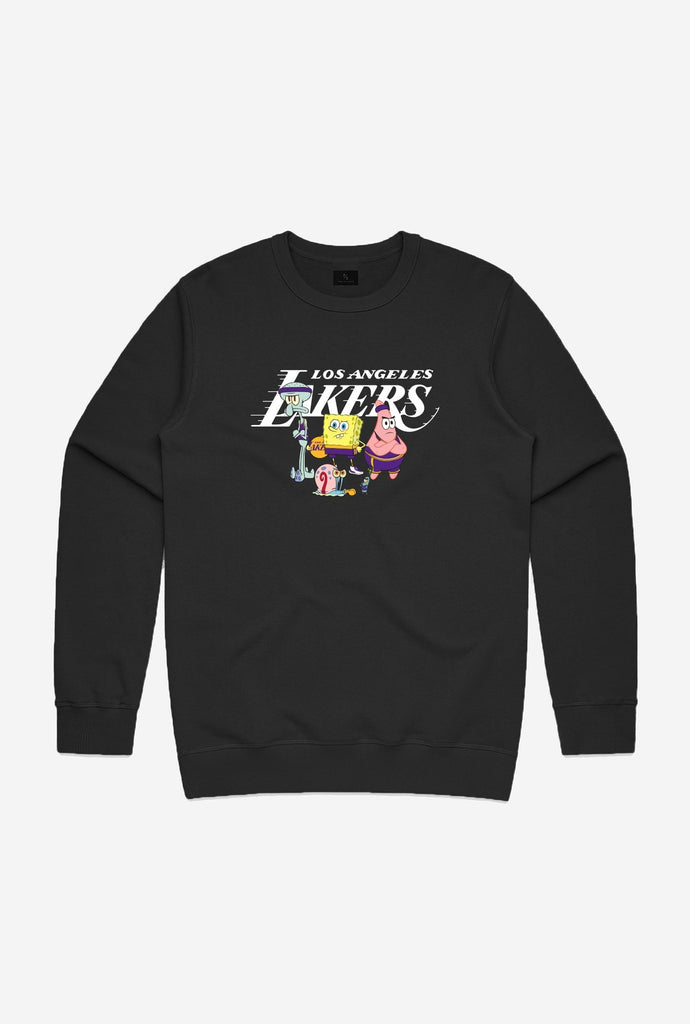 NBA x Spongebob Los Angeles Lakers Team Crewneck - Black