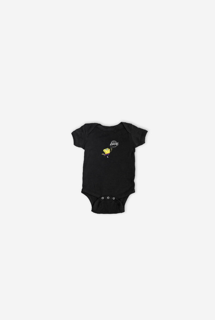 Los Angeles Lakers Spongebob Logo Onesie - Black
