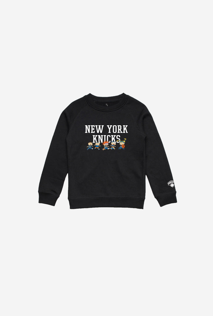 NBA x Rugrats New York Knicks Team Kids Crewneck - Black