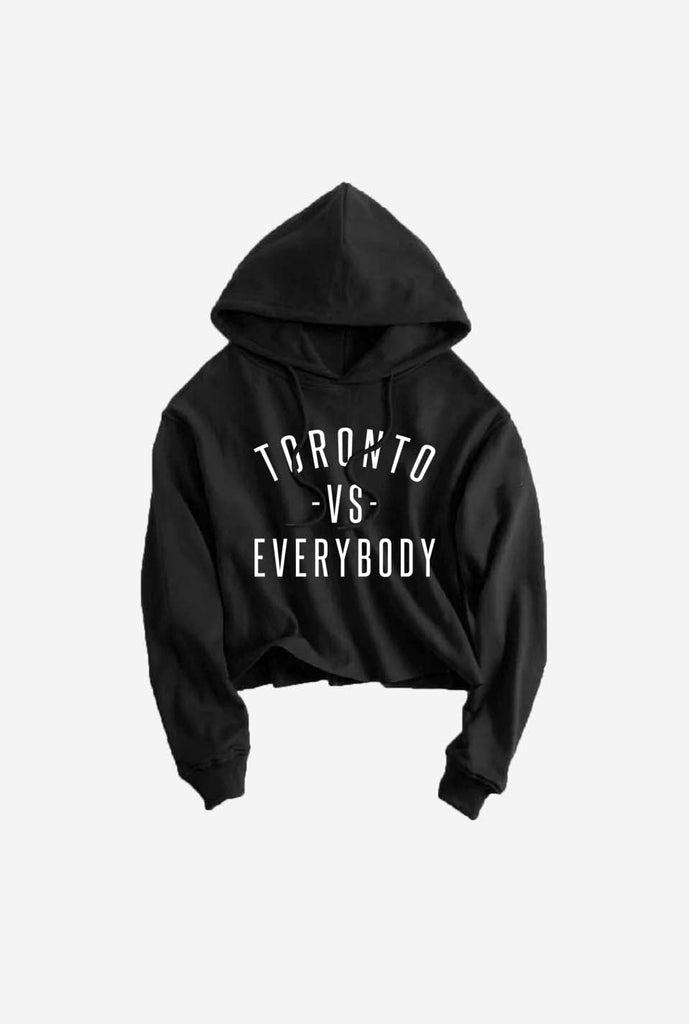Toronto -vs- Everybody Cropped Hoodie - Black