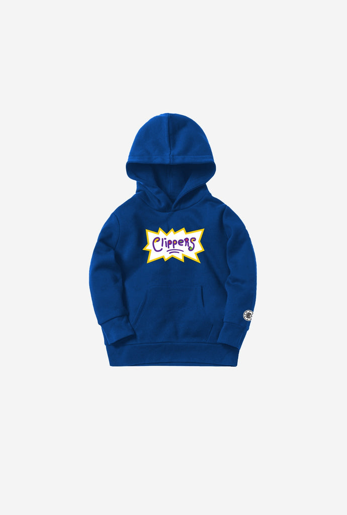 NBA x Rugrats Los Angeles Clippers Kids Hoodie - Royal