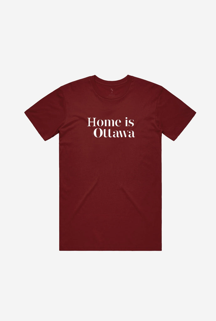 Home is Ottawa T-Shirt Maroon