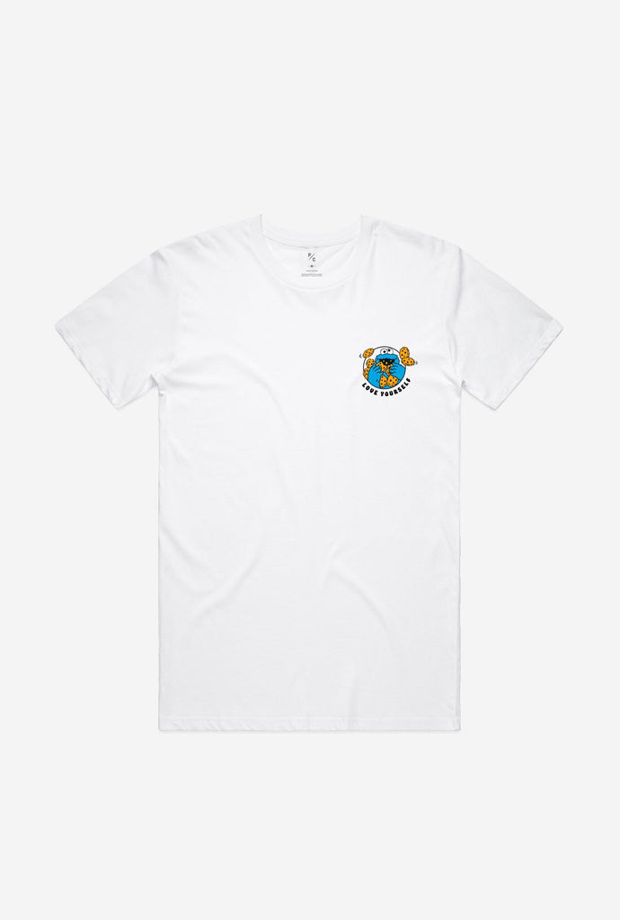 Love Yourself Cookie Monster T-Shirt - White