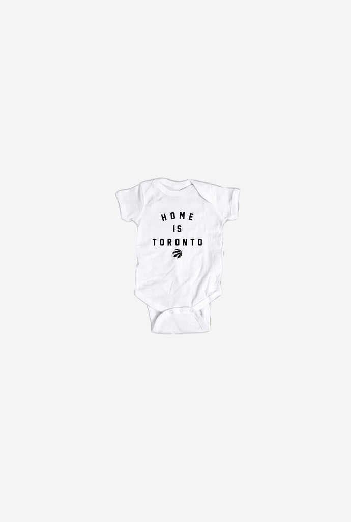 Home is Toronto Raptor Ball Onesie - White