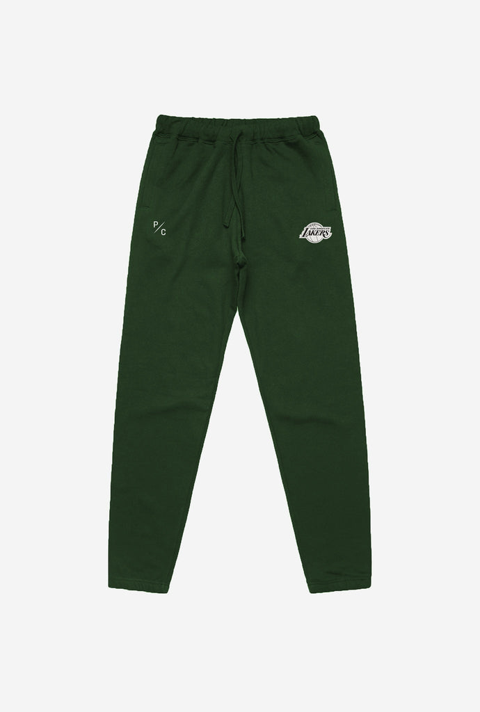 LA Lakers Patch Logo Jogger - Forest Green