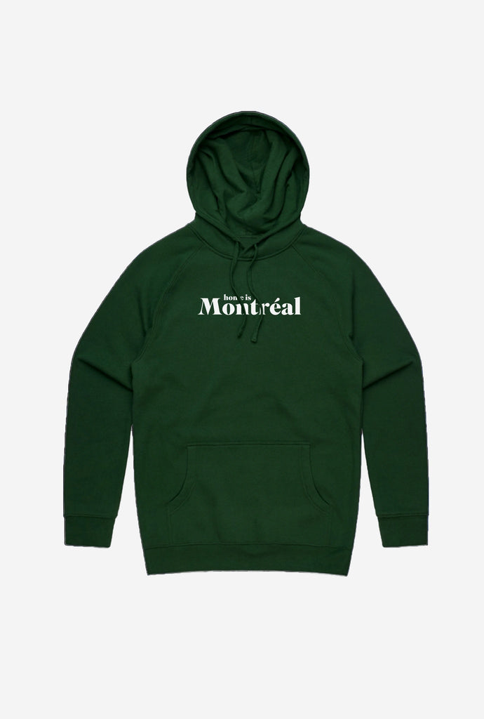 Home is Montreal Hoodie Forest Green