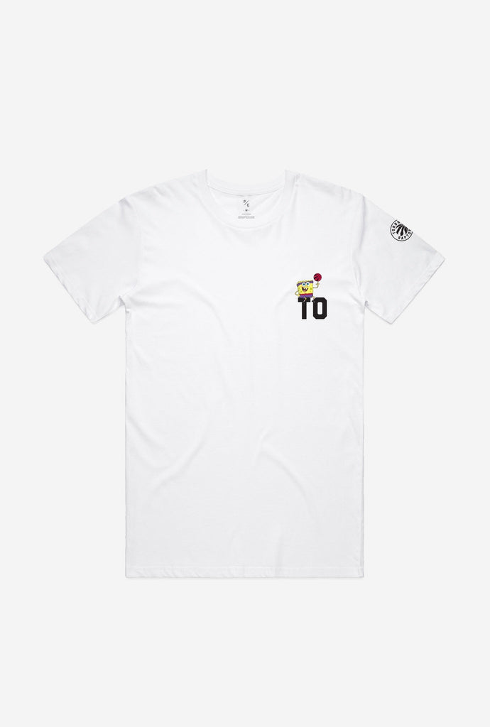 TO Raptors Spongebob Crescent T-Shirt - White