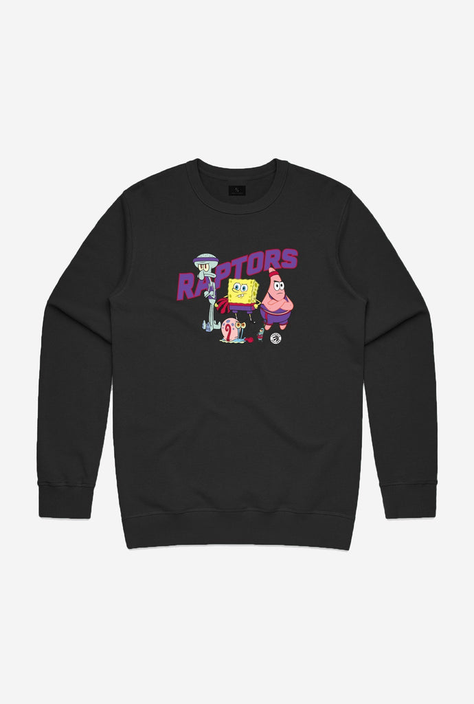 NBA x Spongebob Toronto Raptors Team Crewneck - Black