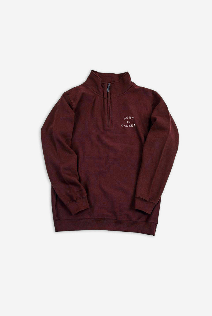 Home is Canada Quarter Zip - Maroon