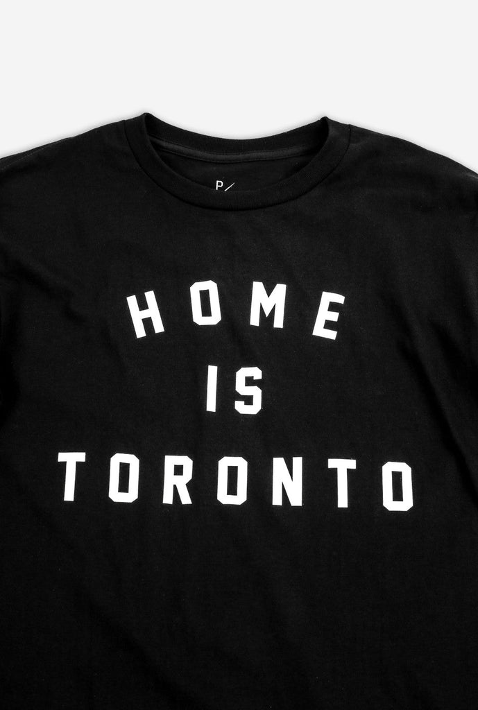 Home is Toronto Varsity Long Sleeve - Black
