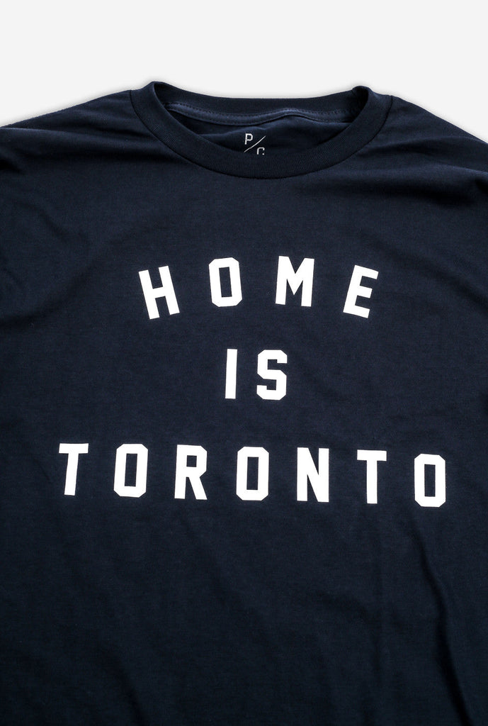 Home is Toronto Varsity Long Sleeve - Navy