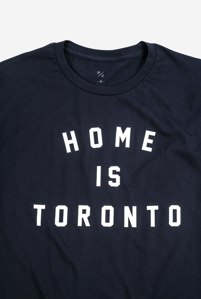 Home is Toronto Varsity T-Shirt - Navy