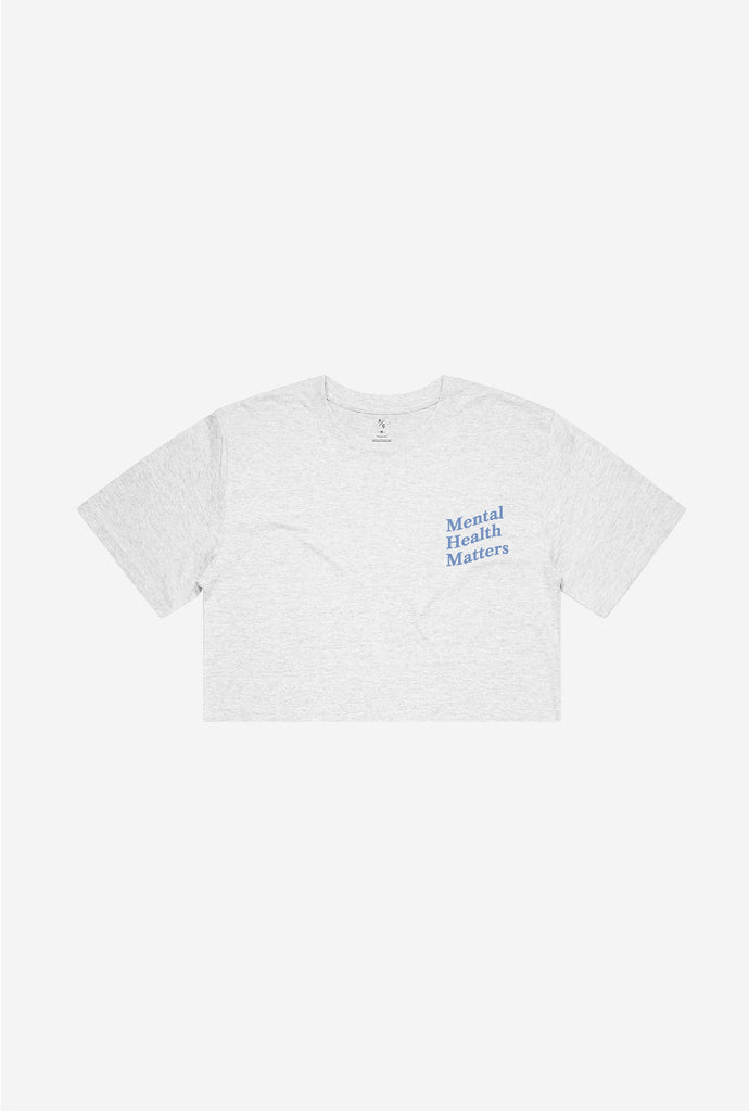 Mental Health Matters Cropped T-Shirt - Ash