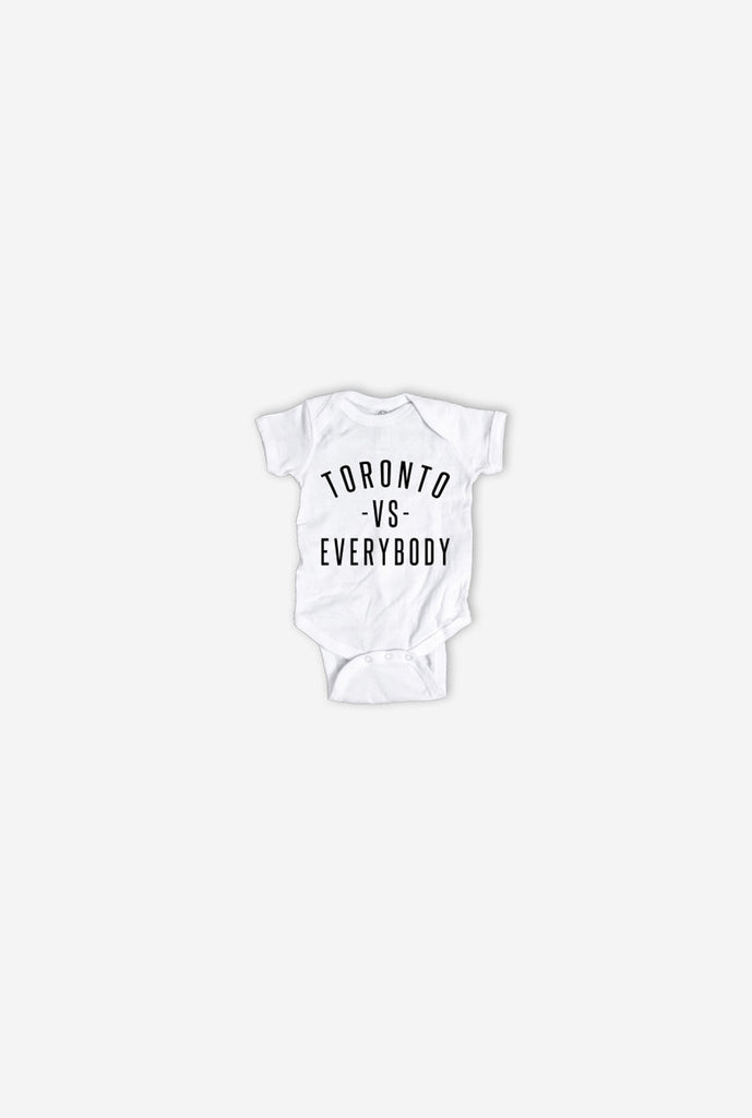 Toronto -vs- Everybody Short Sleeve Onesie - White