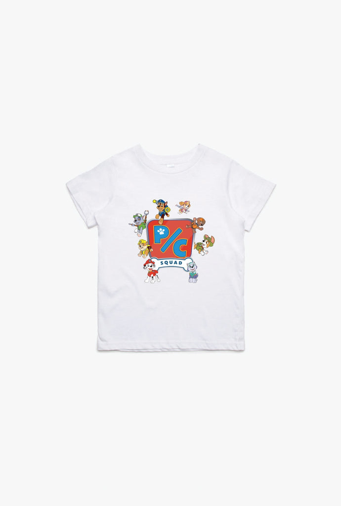 Final Sale - P/C x Paw Patrol Squad Kids T-Shirt - White