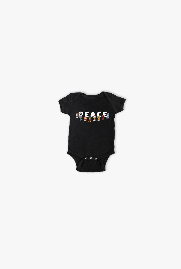 P/C x Paw Patrol Peace Short Sleeve Onesie - Black