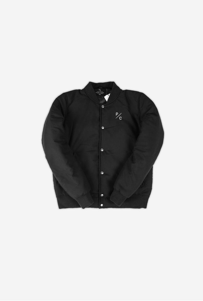 Home is Toronto Varsity Bomber Jacket - Black