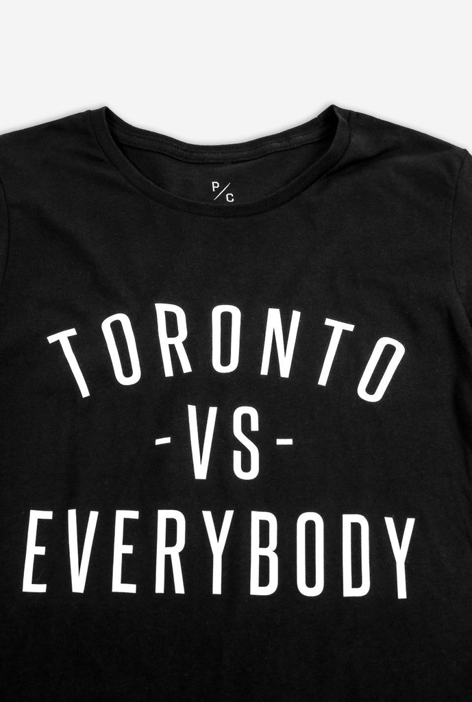 Final Sale - Toronto -vs- Everybody Women's T-Shirt - Black