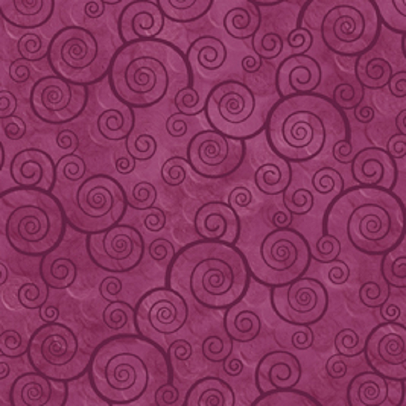 HARMONY 24778 VM Curly Scroll Violet / Magenta Quilting Treasures