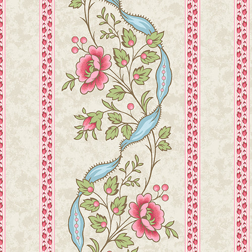 ARBOR ROSE A 7781 L Wallpaper Stripe Linen Renee Nanneman Andover