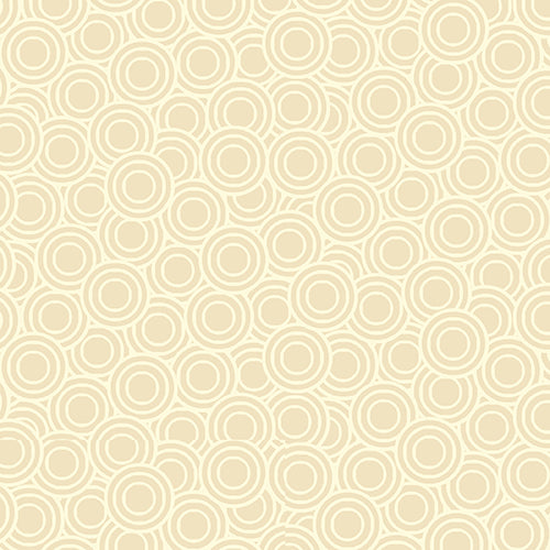 DECO FLOWERS TP 1145 Q Circles Cream Makower UK Andover