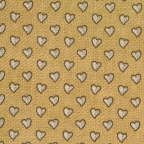 ALLIANCE 46058 11 Hearts Gold Howard Marcus MODA FAT QUARTER