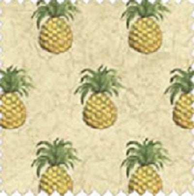 BOUNTIFUL 32175-4 Pineapple Creme Williamsburg Windham Fat Quarters