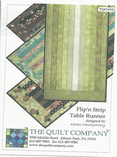 FLIP 'n STRIP TABLE RUNNER TQC402 Pattern Table Runner Karen Montgomery The Quilt Company