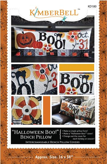 KIMBERBELL HALLOWEEN BOO KD180 Bench Pillow Pattern