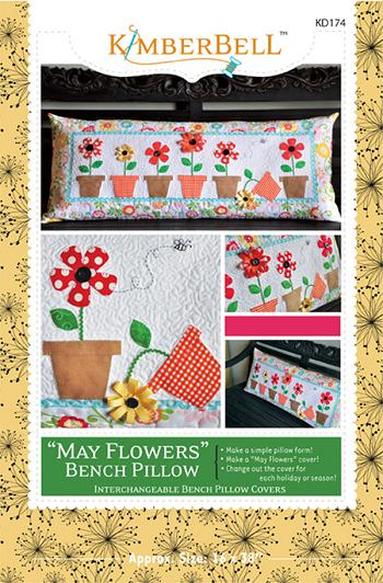 KIMBERBELL MAY FLOWERS KD174 Bench Pillow Pattern