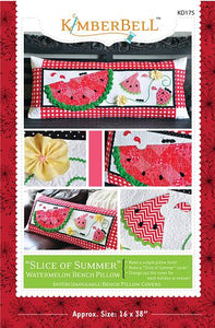 KIMBERBELL SLICE OF SUMMER KD175 Bench Pillow Pattern