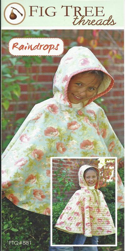 RAINDROPS PONCHO TQ881 Pattern Children Poncho Fig Tree Threads