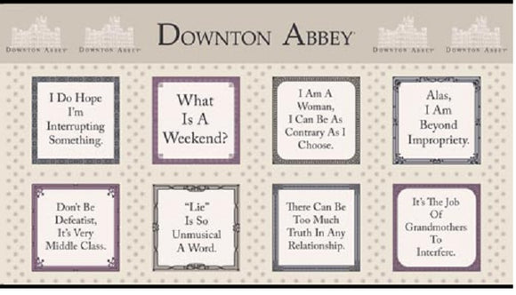 DOWNTON ABBEY A 8109 N Labels The Dowager Andover