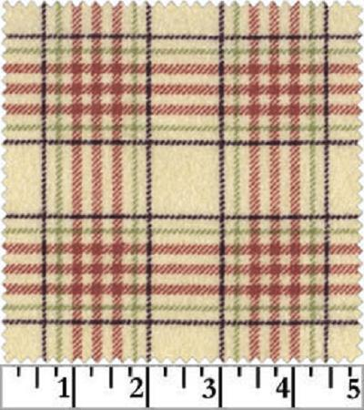WOOLIES FLANNEL 18142 ER Large Plaid Red Maywood FAt QUARTERS